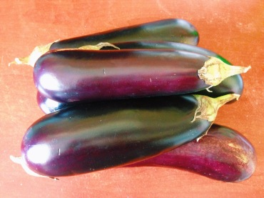 Long skinny eggplant...